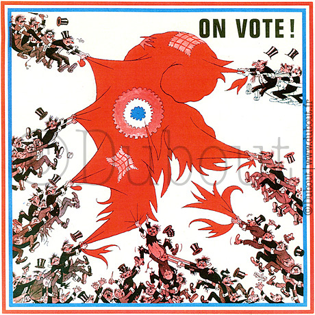 Albert Dubout, On vote !, 1973